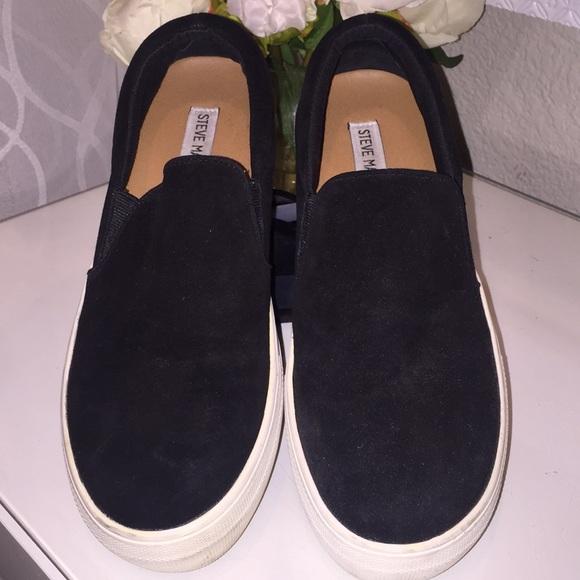 steve madden black velvet shoes